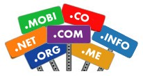Register the most popular top level domain names: .COM, .NET, .ORG, .INFO, .MOBI and other common top level domain names