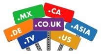 Register country domain names like .US, .CA, .CO.UK, .ASIA, .MX, etc
